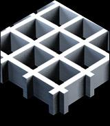 Решетчатые настилы из стеклопластика GFK